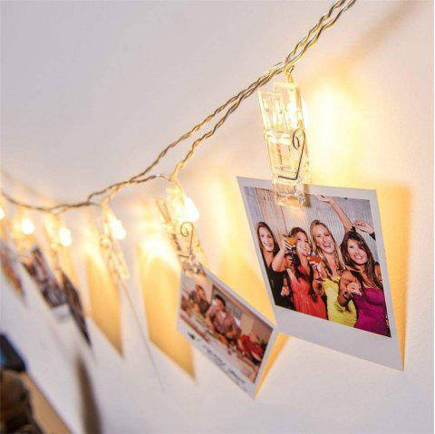 Blanc chaud USB LED Photo Clip Light Room String Light Décorations Clip moyen - Blanc Chaud 3M