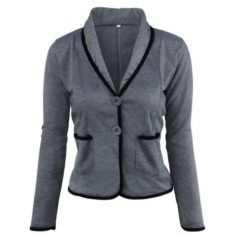 Slim-Fitting Small Suit Jacket - CARBON GRAY S