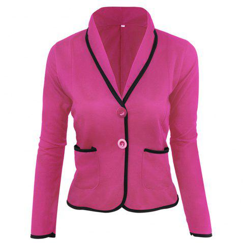 Veste De Costume Slim Fit - Magenta Dimorphotheca 4XL