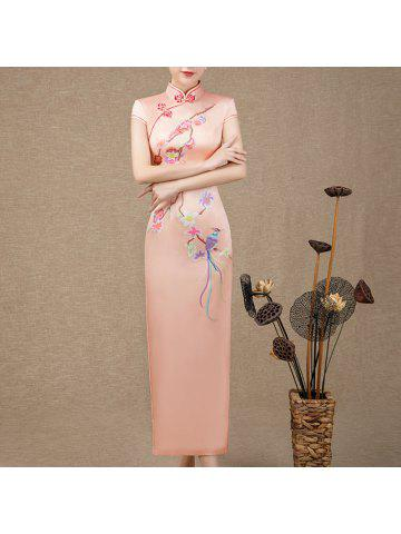 a06b9813bc718 Chinese Aristocratic Style Fashion Slim Ladies Long Embroidered Cheongsam