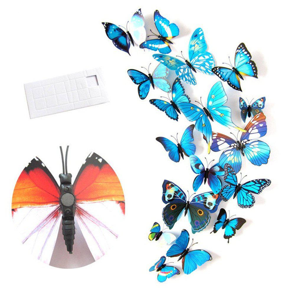 Image of 12Pcs 3D Stereo Simulation Butterfly Wall Stickers on TV Background Stickers