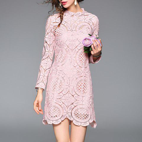 Two Sets of Dresses with Suspenders - LIGHT PINK L
