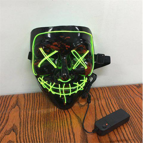 Clubbing Light Up Stitches LED Mask Costume Halloween Rave Cosplay Party Purge - CHARTREUSE