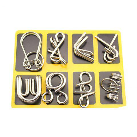 Nine - Ring Series Puzzle Toy - SILVER