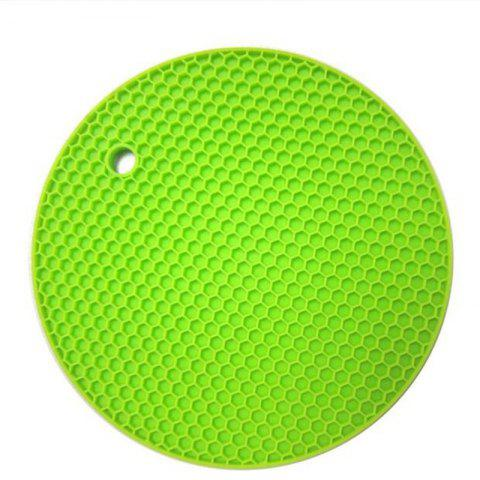 Insulation Pads Silica Gel Round Small Honeycomb Table Mat Bowl Pad Coaster Hea - GREEN