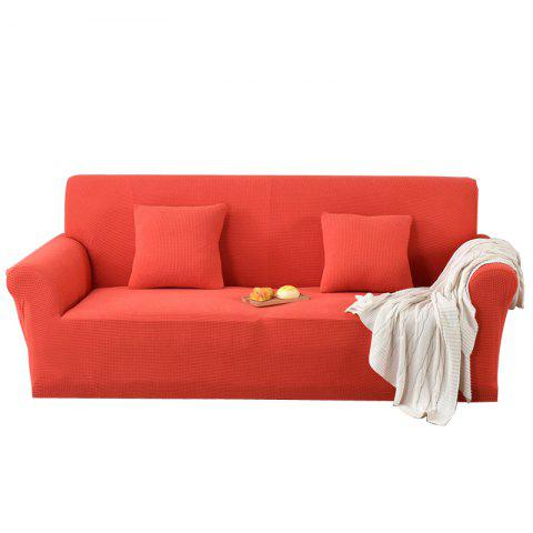 Hlc Fleece Stretch Four Seasons Universal All Round Sofa Cover Double Bright Orange Two