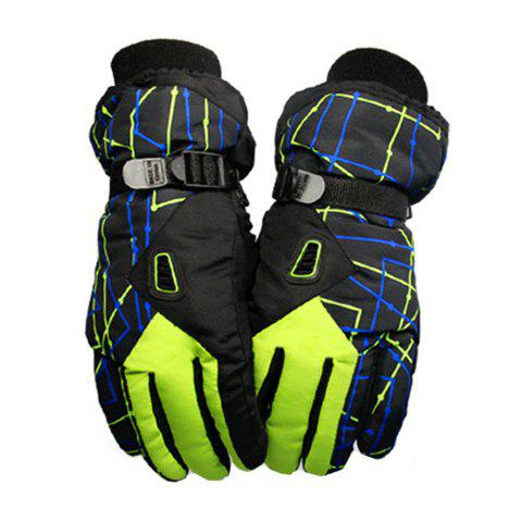 Winter Outdoor Sports Waterproof Thickening Warm Breathable Gloves - GREEN