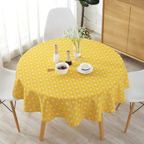 Round table cloth printed tablecloth - BRIGHT YELLOW REGULAR