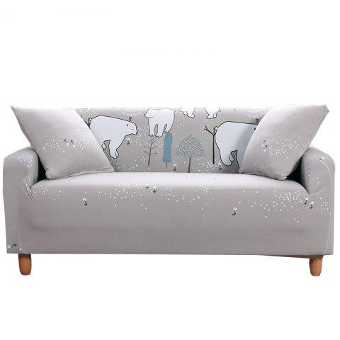 BJX Cartoon Printing Sofa Cover Double Seat - PLATINUM TWO SEATS