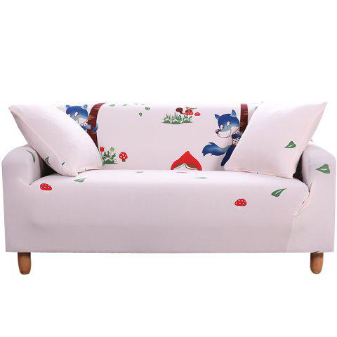 MHJQ Cartoon Printing Sofa Cover Double Seat - SAKURA PINK TWO SEATS