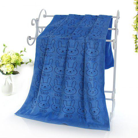 Wet Breathable Wear-Resistant Three Bath Towels - BLUE ONE SIZE