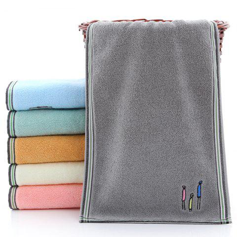 Cotton Towels Comfortable Wash Face Three Towels - GRAY