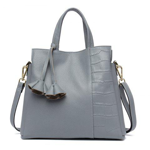 New Bag Head Layer Cowhide Lady Handbag - BLUE