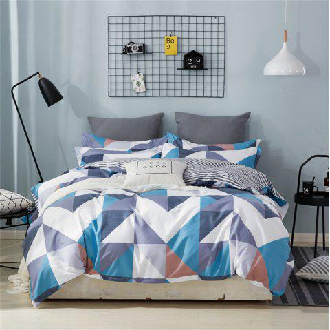 OMONNES Bed Four Sets of Fresh and Simple Bedsheets Quilt Royal Style - multicolor A DOUBLE