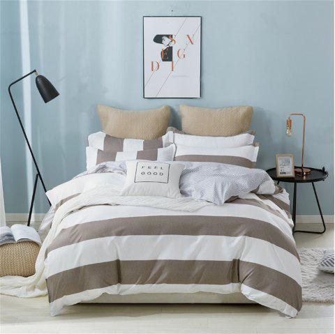 OMONNES Four Sets of Beds Fresh and Simple Sheets Quilt Covers - GRAY GOOSE SINGLE