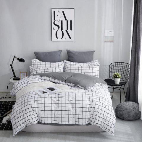 OMONNES Four Sets of Bed Fresh and Simple Sheets Quilt Simple Life - MILK WHITE DOUBLE