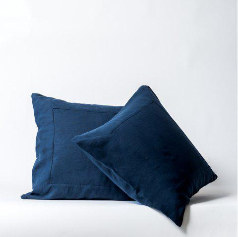 Pure Linen European Pillowcase Pre-Washed - CADETBLUE 1PC