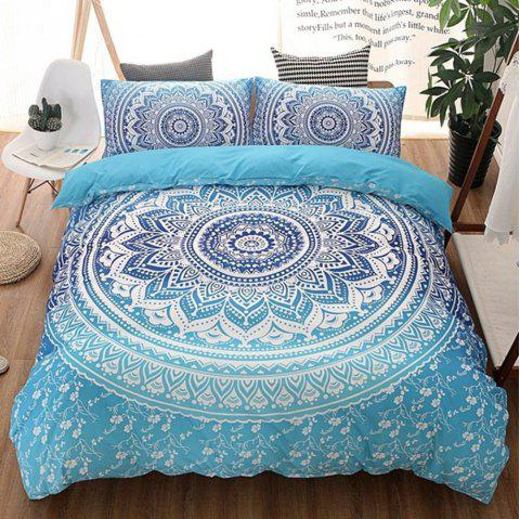 3D Digital Printing Bohemian Bedding - CRYSTAL BLUE KING SIZE