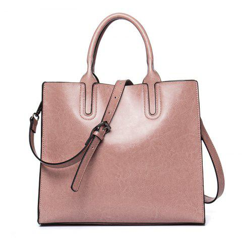 Business and Leisure Women'S Bag Cowhide Lady Handbag - PINK