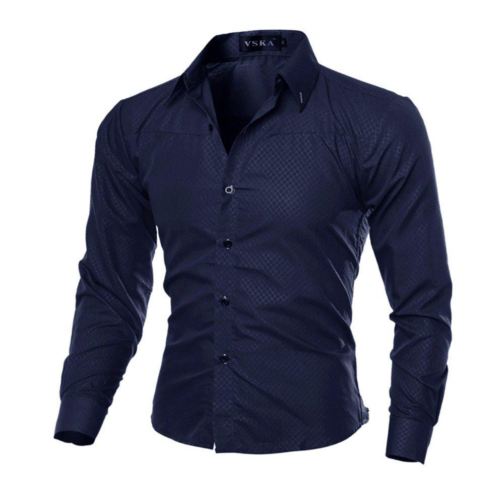 Image of Solid Color for Men'S Leisure Shirt