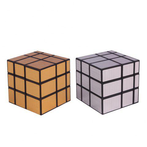 Yuxin Zhisheng Black Unicorn Mirro Magic Cube Suitable for Introductory Training - SILVER