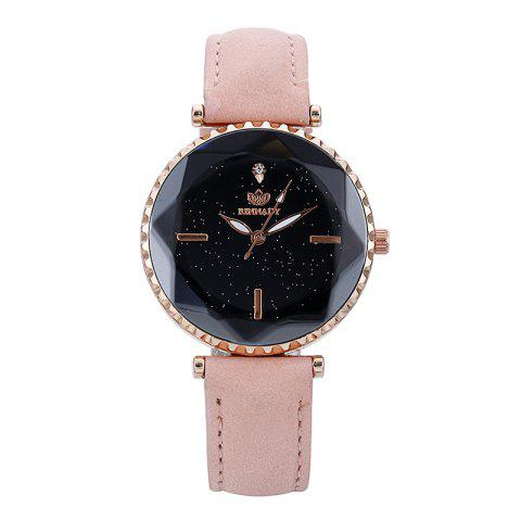 Ladies 'Luxury Fashion Leather Quartz Watch - ROSE PÂLE