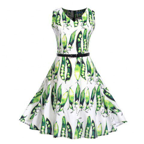 Fashion Womens Flower Print Criss Cross Gown Evening Party Dress - multicolor K 2XL
