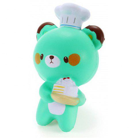 Jouet de décoration Collection Jumbo Squishy Cartoon Bear Bear Slow Rising - Bleu Vert