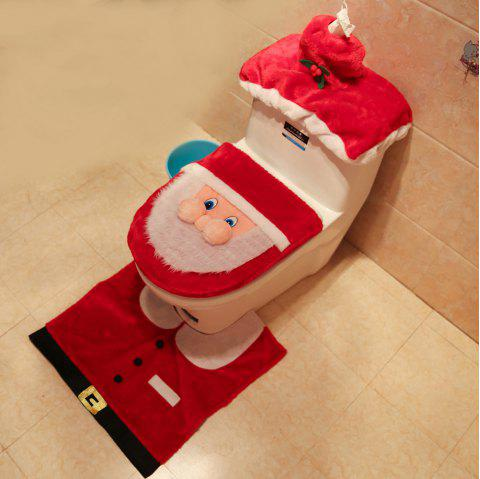 Santa Claus Toilet Set Santa Claus Toilet Set Three Pieces - LAVA RED PACK OF 3