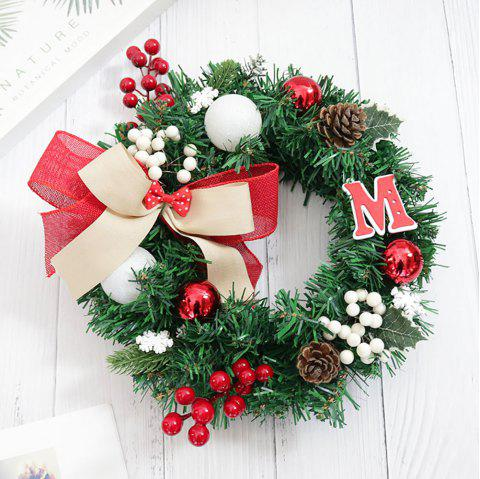 Decorate with Christmas Decorations and Wreaths - multicolor H PACK OF 1