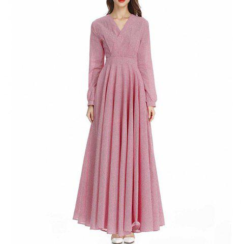 National Ethos Quality Stitching Dress - Jupe longue à carreaux - Rose S