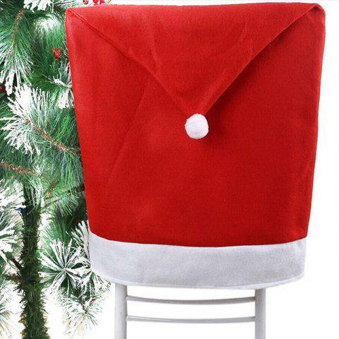 Removable Santa Red Hat Chair Covers Christmas Decorations Dinner Chair Xmas Cap - RED