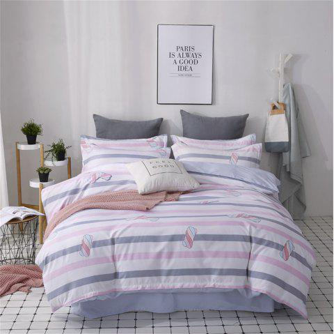 OMONNES Four Sets of Crisp and Compact Sheets on The Bed with Cotton Candy - PLATINUM QUEEN SIZE