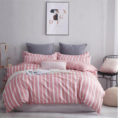 OMONNES Four Sets of Crisp and Simple Sheets on The Bed Are Dusk - LIGHT PINK SINGLE