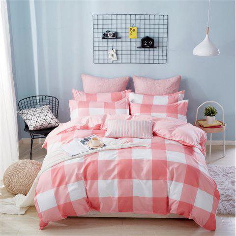 OMONNES Four Sets of Crisp and Simple Sheets on The Bed - PINK FULL