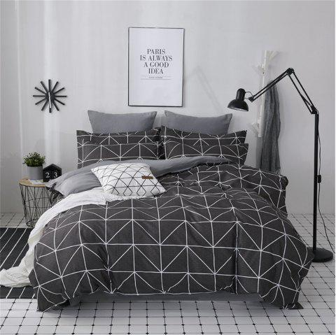 OMONNES Four Simple and Fresh Bed Sheets on The Bed - BLACK QUEEN SIZE