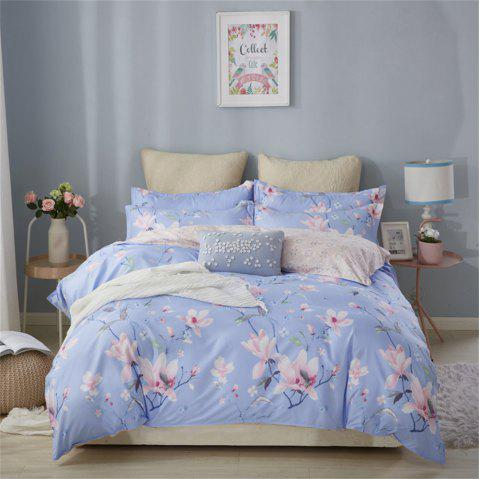 OMONNES Four Sets of Crisp and Simple Bedsheets and Quilts on The Bed - POWDER BLUE TWIN SIZE