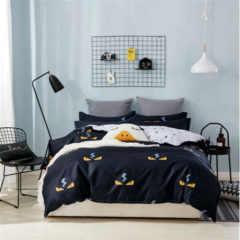 OMONNES Four Sets of Crisp Sheets and Quilts on The Bed - NIGHT KING SIZE