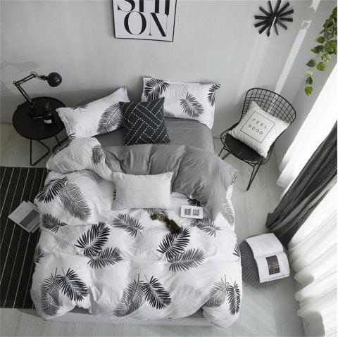 OMONNES Four-Piece Simple Bed Sheet Cover Shadow - 001 SINGLE