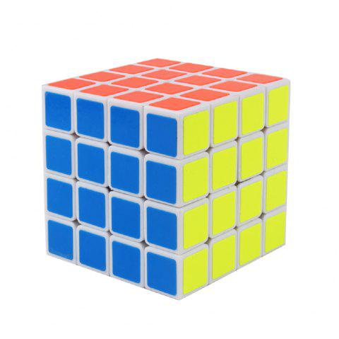 Yuxin English version 4X4X4 Magic Cube Special for racing game Sticker version - WHITE