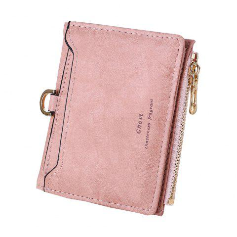 New Matte simple Ladies Wallet Casual Fashion Zipper Card Purse - Rose ONE SIZE