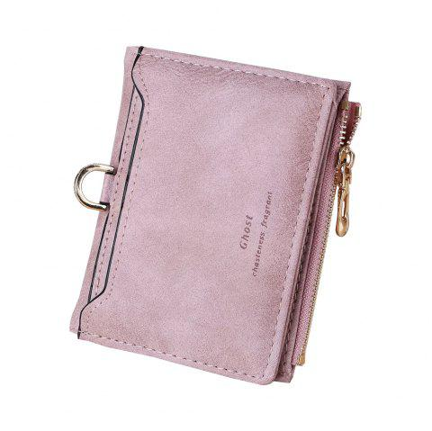 New Matte simple Ladies Wallet Casual Fashion Zipper Card Purse - Lilas ONE SIZE
