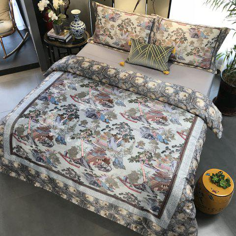 European and American Style 3D Painting Bedding Set - PUCE KING SIZE