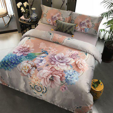 European and American Style 3D Painting Bedding Set - CHAMPAGNE GOLD KING SIZE