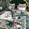 European and American Style 3D Painting Bedding Set - GREENISH BLUE DOUBLE