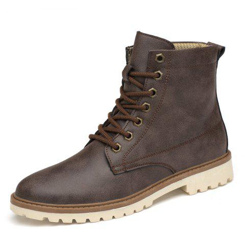Men Shoes Breathable Soft and Comfortable - DEEP BROWN EU 37