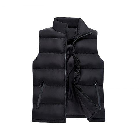Men Vest Down Jacket Short Jacket - BLACK 2XL