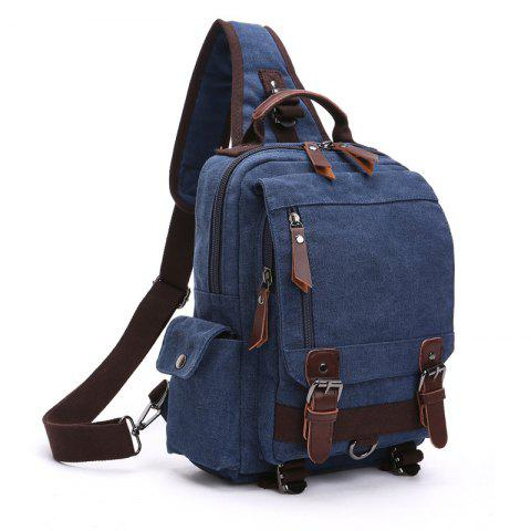 ZUOLUNDUO Men s And Women s Stylish Canvas Backpacks For Outdoor Travel -  DEEP BLUE 473d4d400f797