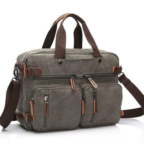 Business Large Capacity Briefcase Hand Satchel Bag Luggage - GRAY
