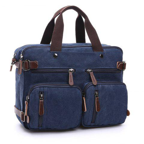 Business Large Capacity Briefcase Hand Satchel Bag Luggage - DEEP BLUE